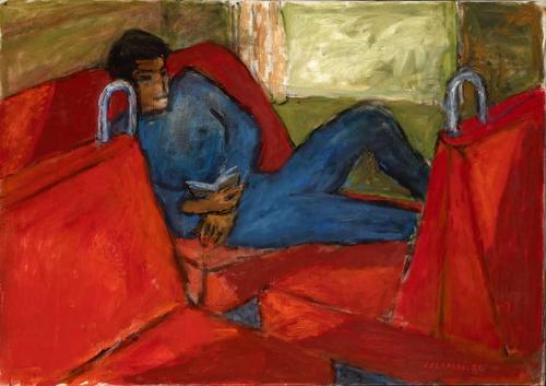 07-J-Czapski-Młody-mezczyzna-na-czerwonym-tle-1980.jpg