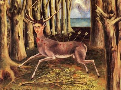 le cerf blessé ou le petit cerf ou je suis un pauvre crf 1946, frida kahlo.jpg